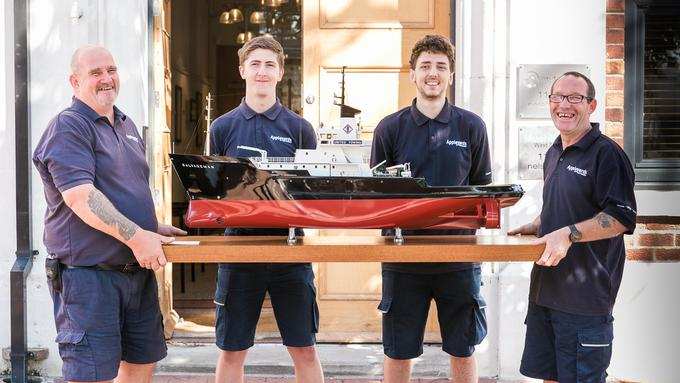 Appleyards Remove Historic Model Boat