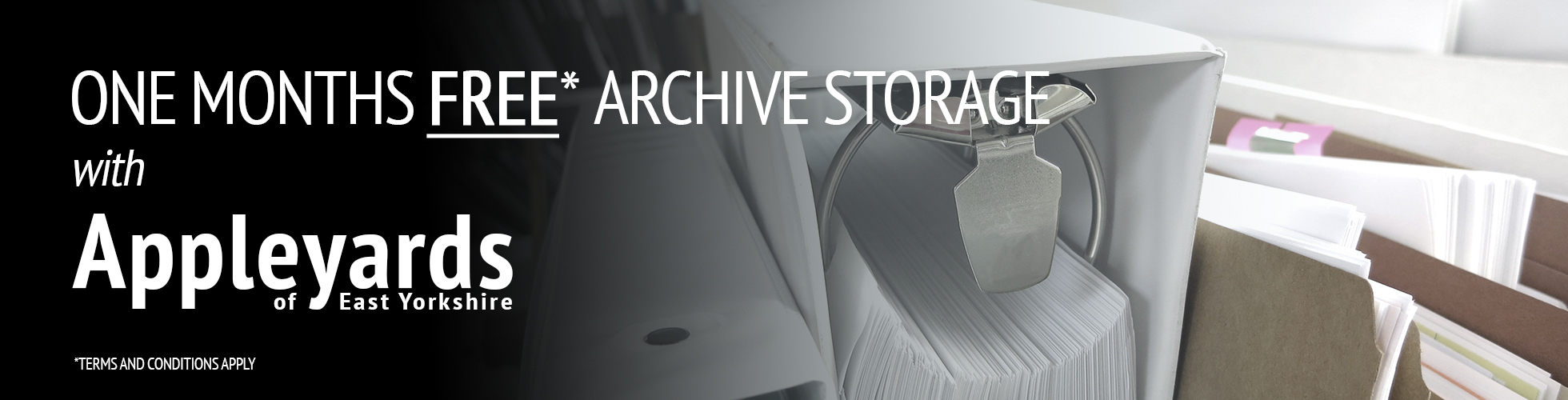 One month free archive storage
